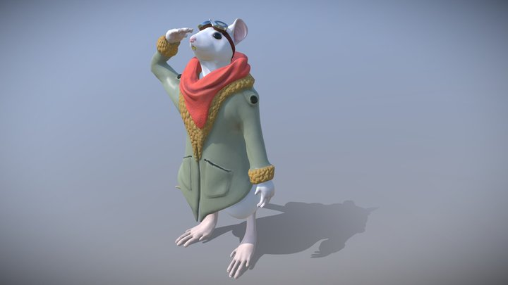Rat Aviator 3D Model