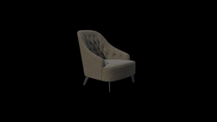 Emilia Capitonné Armchair 3D Model