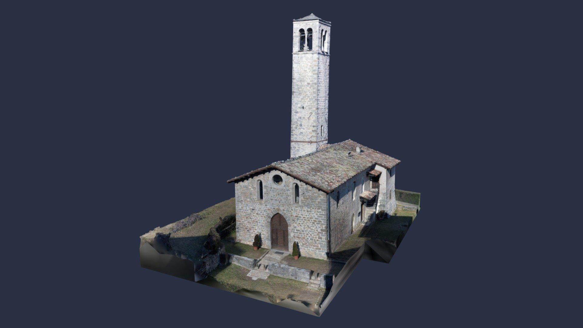 Chiesa Cornello Dei Tasso Bg 3d Model By Federico Risi