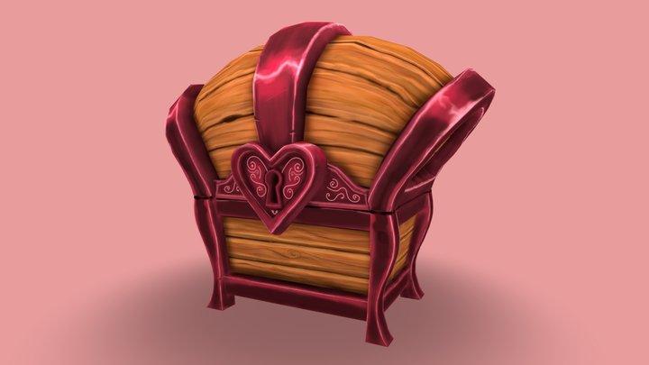 Heart Treasure Chest 3D Model