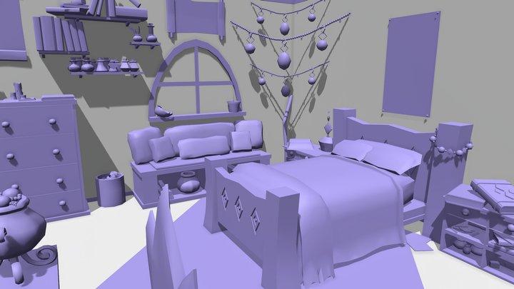 Magical Bedroom 3D Model
