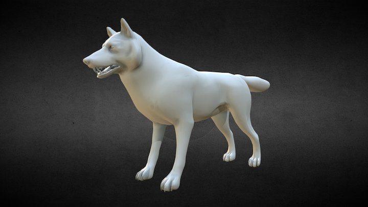 Wolf Low Poly Model - Free Download 3D Model
