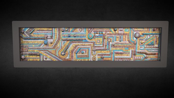 Mozaika, ZEG, Tychy, Polska 3D Model