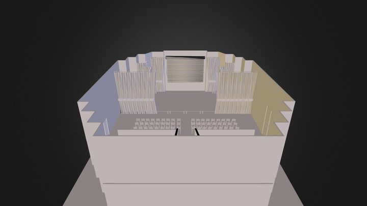 Salle spectacle 3D 3D Model