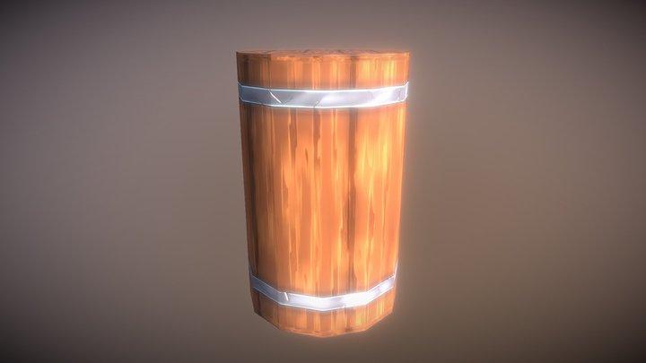 Barrel low poly Game Asset 3D Model