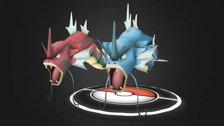 Pokemon FanArt - Gyarados 3D Model