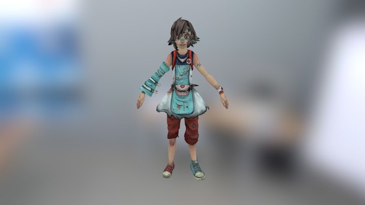 Nurse Tina 3D Model