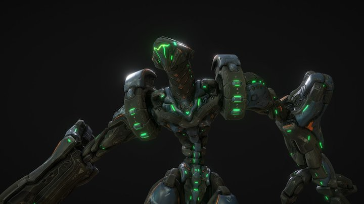 Sci-Fi Bio Weapon 3D Model