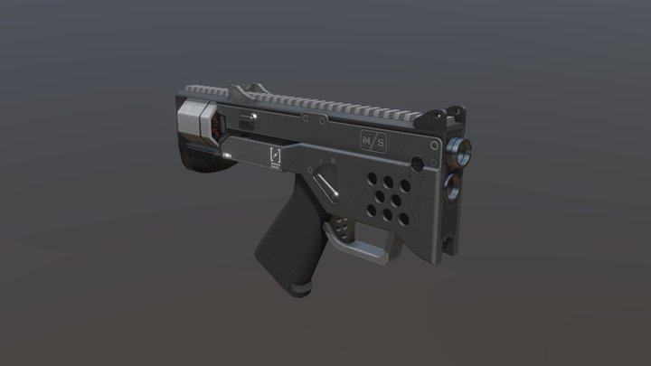 Bullpup Revolver 3D Model