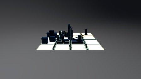 #heroicvoxels Tron City WIP 3D Model