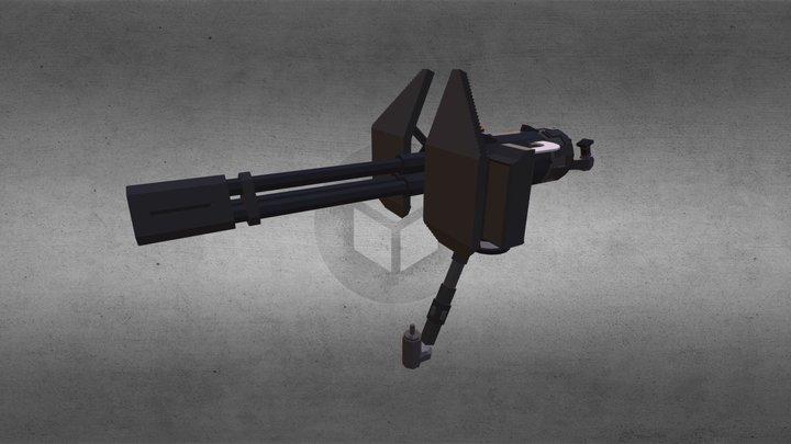 MC Halo - Chaingun 3D Model