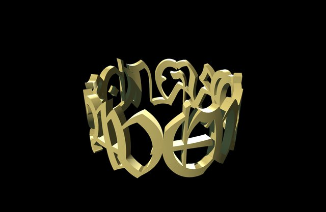 3D Jewellery_Ring_1 3D Model