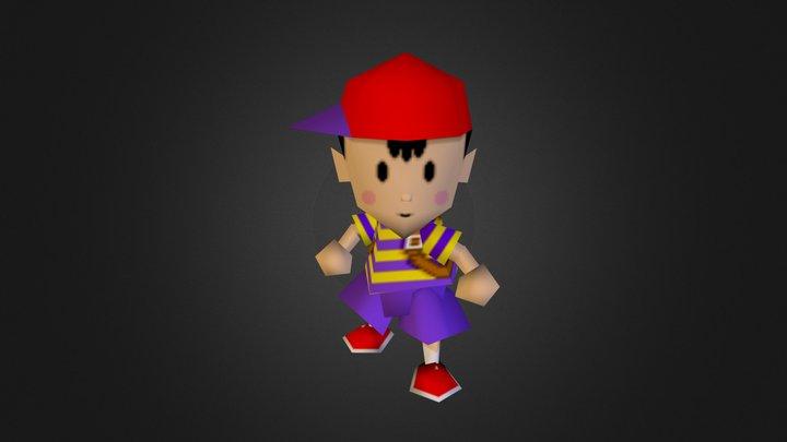 Nintendo 64 - Super Smash Bros - Ness 3D Model