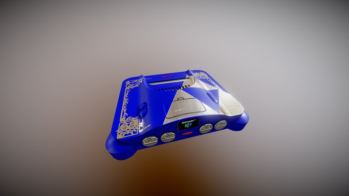 Nintendo 64 - Zelda Blue Edition 3D Model