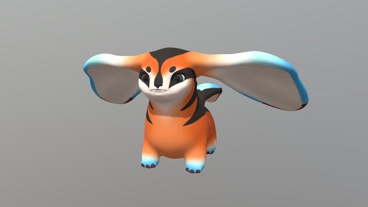 Cute Fantasy Creature 3D Model