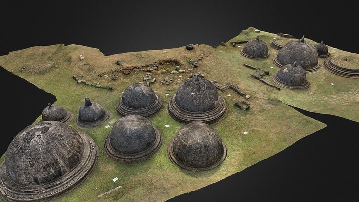 Kantharodai Stupas: South and East Sections 3D Model