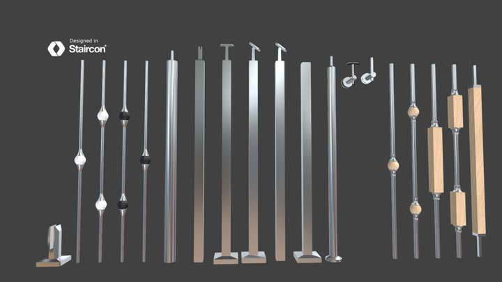 US_Balusters Stainless Steel 3D Model