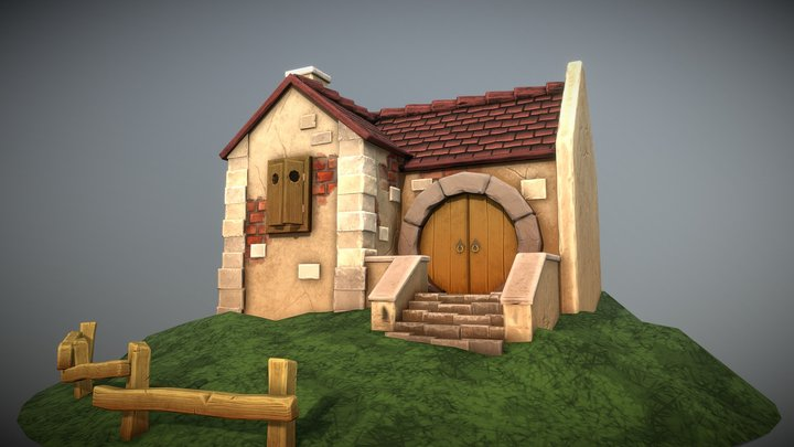 Stylized House 3D PBR 3D Model