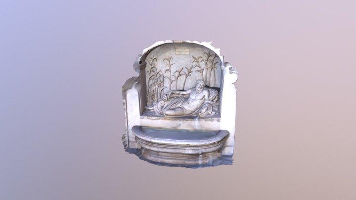 Quattro fontane - Roma - Fiume Arno 3D Model