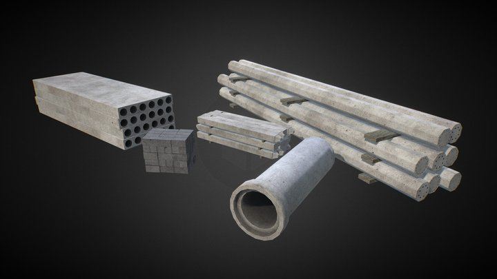 Construction Materials Set #1 3D Model