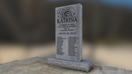 Pass Christian Hurricane Katrina Memorial 3D Model