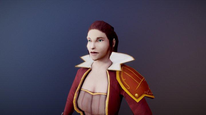 Low Poly Character - Cassandra Oriana 3D Model