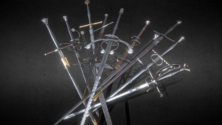Medieval swords 3D Model