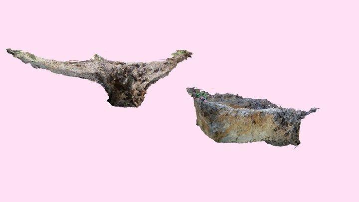 The model of WW2 war dead's grave 1/3 3D Model