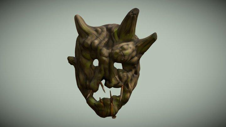 Wooden Mask 3D Model