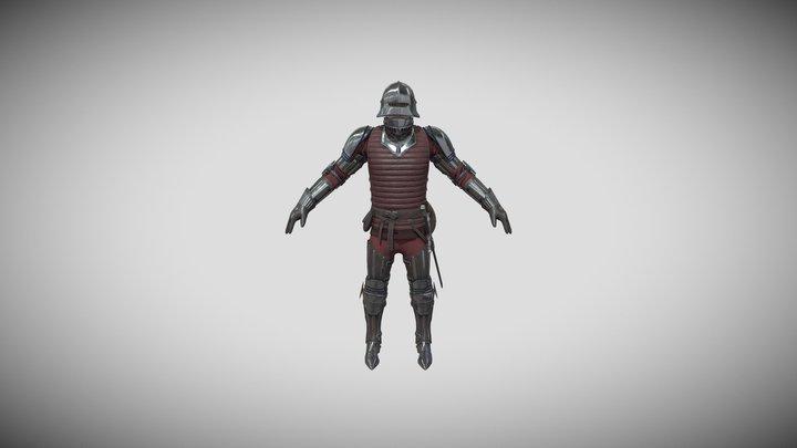 TAB Medieval Knight - 6A - Skin-1 3D Model
