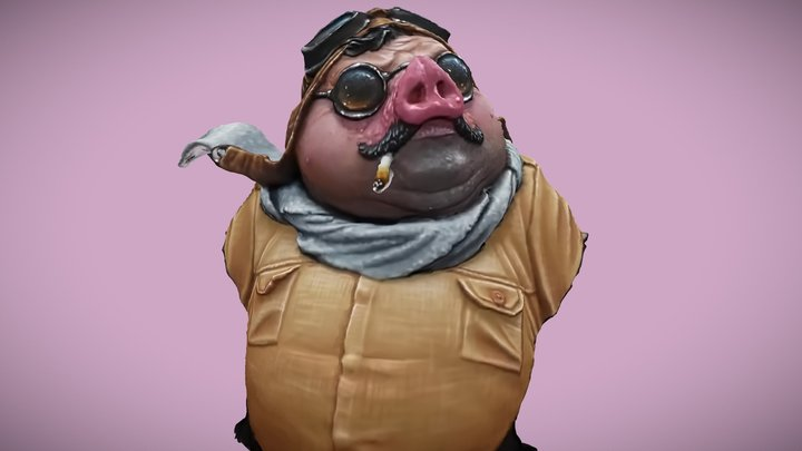 Porco Rosso - Hayao Miyazaki 3D Model