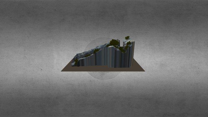 Trinchera conexión pozo 3D Model