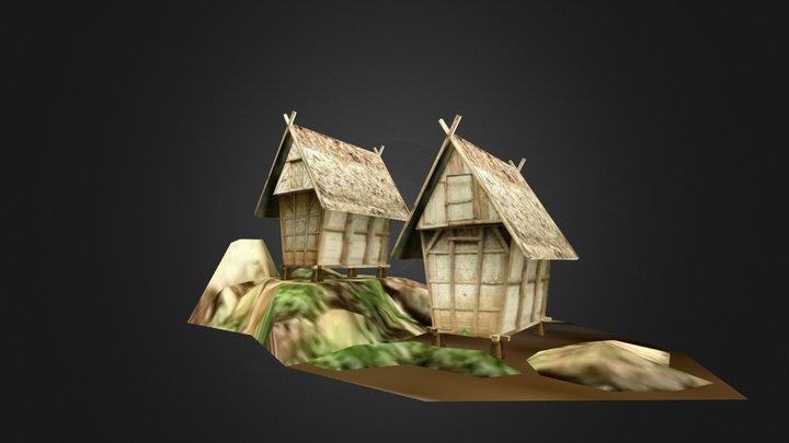 Leuit, Baduy paddy granary 3D Model