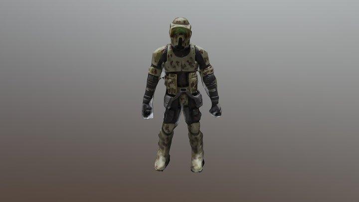 Phase 2 41st Trooper 3D Model