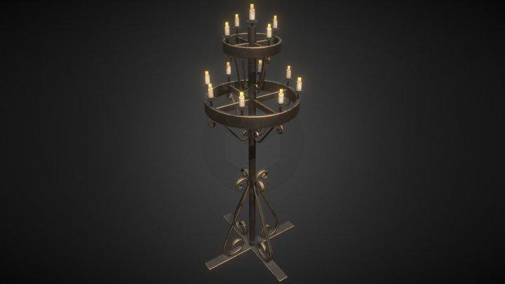 Medieval Candelabra (Free Download) 3D Model