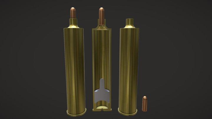 J.E.Bissell Internally Suppressed Fmj Cartridge 3D Model