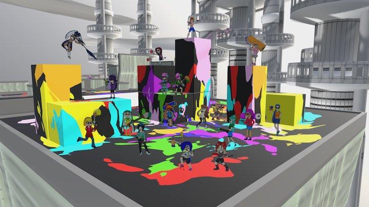 Tgsociety Splatoon 3D Model