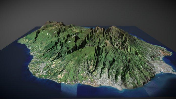 Reunion Island (TIN) 3D Model
