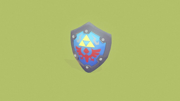 Link's Awakening - Hylian Shield 3D Model
