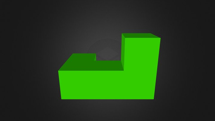 Green Puzzle Piece 3D Model