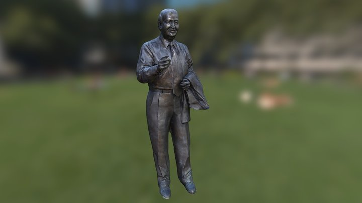 Heroic Sculpture of George. P. Mitchell 3D Model