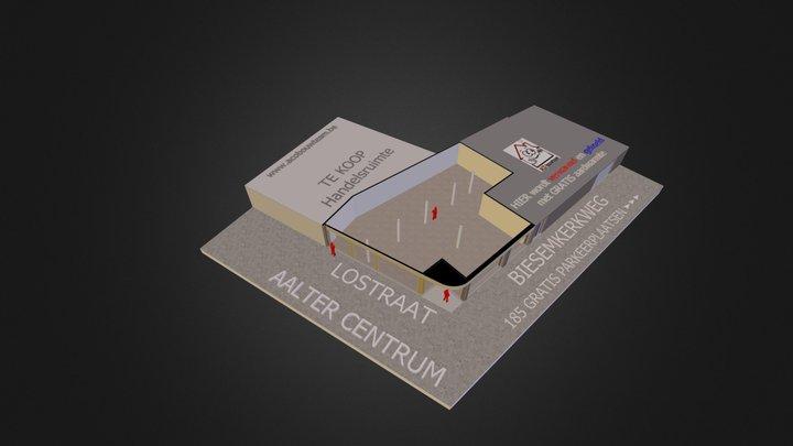 Aalter centrum handelsruimte te koop 3D Model