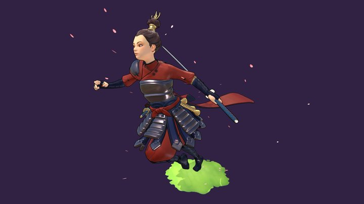 Samurai Princess 3D Model