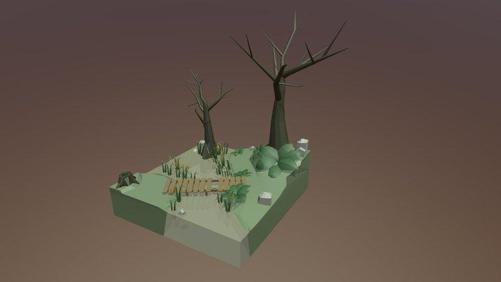 C G P Swamp Scenario 3D Model