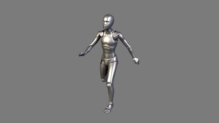 Happy Walking 3D Model