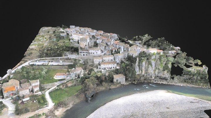 Village of Balazuc, Ardèche, France 3D Model