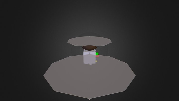 Spacecraft-Cube-01 3D Model