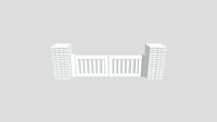 mur complet 3D Model
