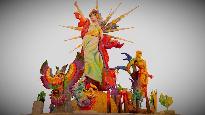 Hoguera / Foguera Oficial de Alicante 2019 (3D) 3D Model