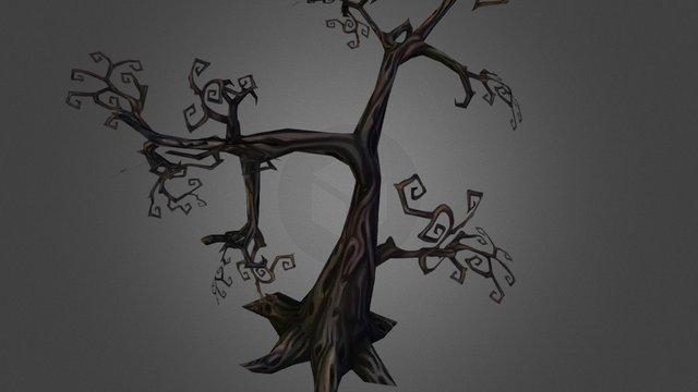 Spooky Dead Tree 3D Model